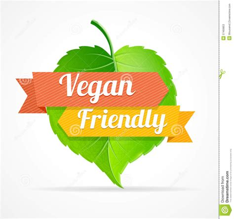 Amykathryns Vegan Friendly Designs by Vector Vegan Friendly Label Stock Vector Image 57469853