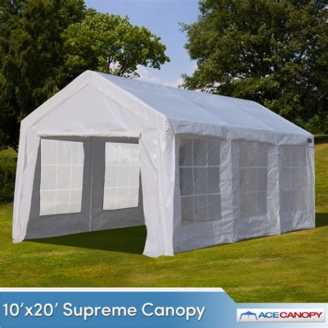 Outdoor Canopy 10 X20 Supreme Outdoor Canopy Enclosed With Windows