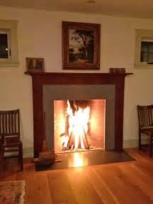 rumford fireplace night
