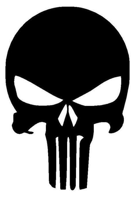punisher skull vinyl decal sticker window wall car bumper