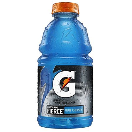 Blue Cherry gatorade fierce blue cherry thirst quencher 32fl oz