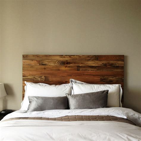 Wood Board Headboard by Cedar Barn Wood Style Headboard Modern Rustic Handmade In