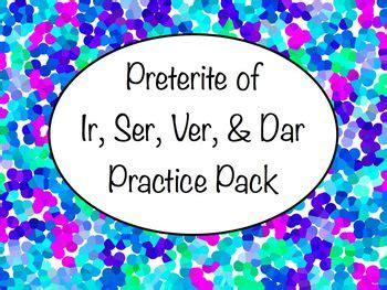 pattern matching español all worksheets 187 ir ser hacer ver dar preterite worksheets