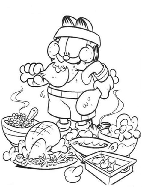 food coloring page pdf garfield eating junk food coloring pages food coloring