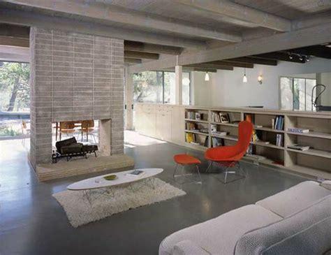 concrete floor living room home decor rustic vintage industrial
