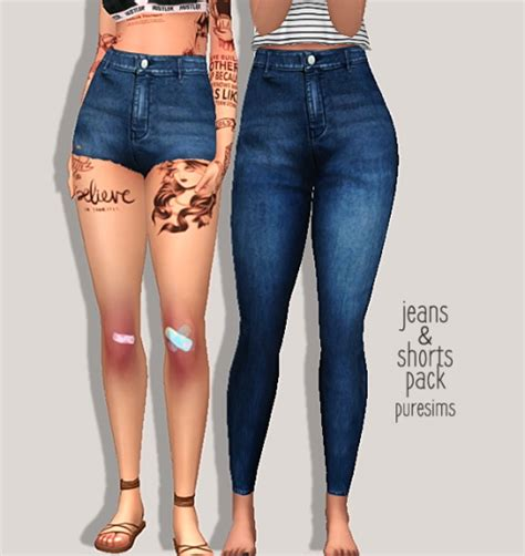sims 4 jeans jeans shorts pack at puresims 187 sims 4 updates