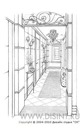 Изящный декор коридора http://www.ok-interiordesign.ru