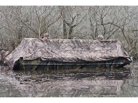 beavertail waterfowl boats beavertail 1400 boat blind nylon