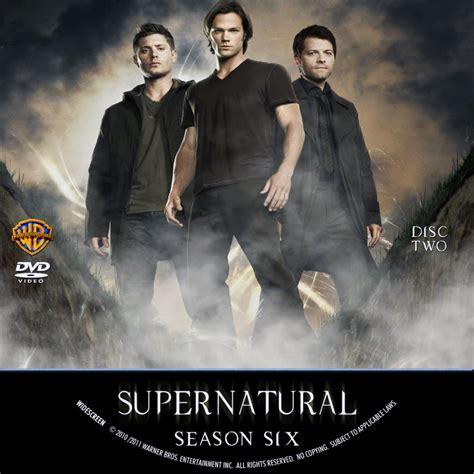 Supernatural Season 6 supernatural season six custom dvd labels supernatural season 6 d2 dvd covers