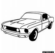 Ford Mustang GT Fastback 1968 Coloring Page