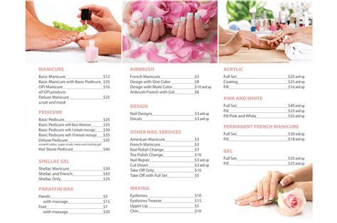 nails salon menu images
