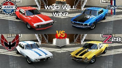 Forza 5   Boss Mustang 302 vs Camaro Z28 vs Javelin AMC vs