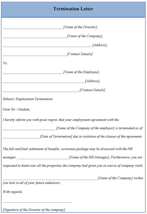 termination letter format to vendor best photos of termination letter template microsoft