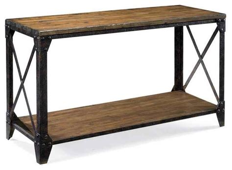 sofa table legs sofa table with rustic iron legs contemporary console