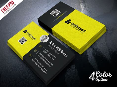card free business card free psd bundle psdfreebies