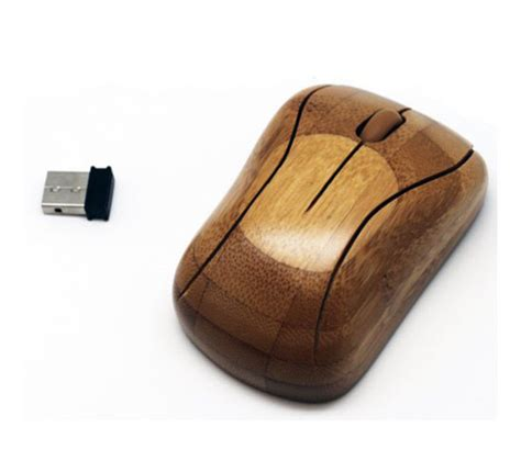 Bamboo Mouse 1 live the high tech while caring the environment with the bamboo wireless mouse green