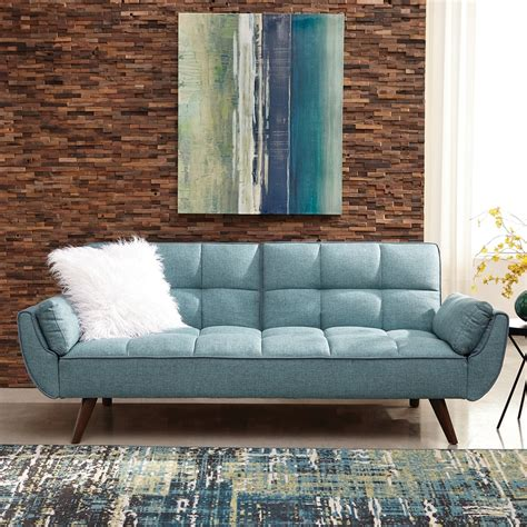 blue sectional sleeper sofa shop scott living turquoise blue sofa bed at lowes com