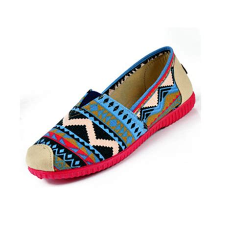 colorful flat shoes fashion country knit colorful espadrilles flat