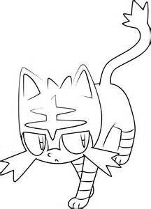 pokemon litten coloring page