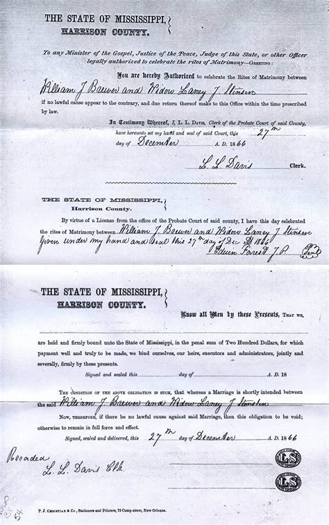 Mississippi Marriage License Records Rdfulks Genealogy For Laney J Pitts