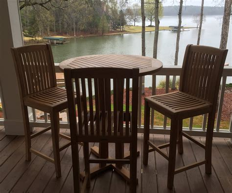 Teak Bar Table And Stools by Royal Bar Table 36 Quot Atlanta Teak Furniture