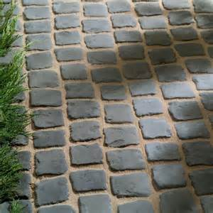 living cobble patio paving set mat manmade