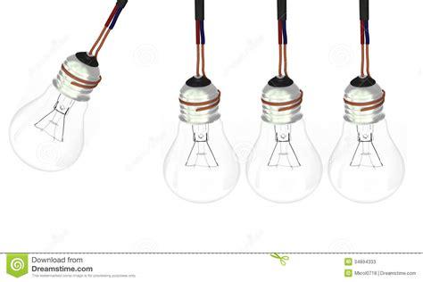 four lights four light bulbs stock photos image 34894333