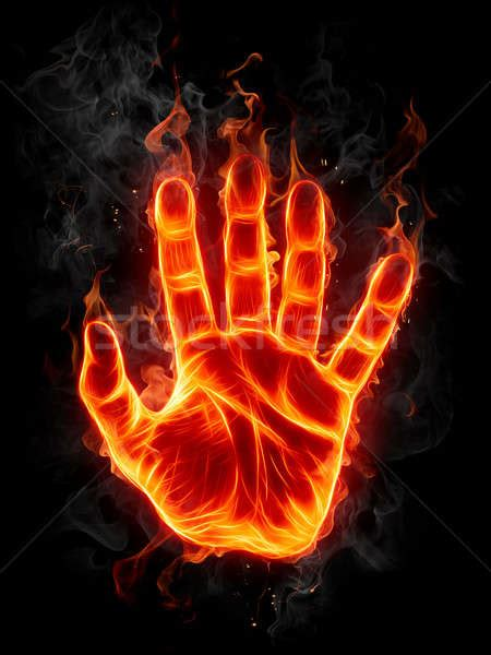flaming hand stock photo  misha  stockfresh