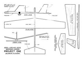balsa glider template 5 steps project 1 plan thumbnail model planes