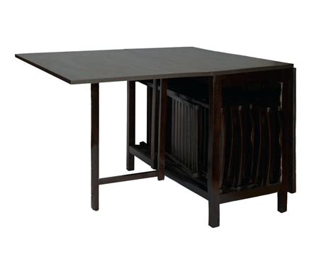 Folding Table With Chair Storage Inside Gateleg Table With Chair Storage Bradcarter Me