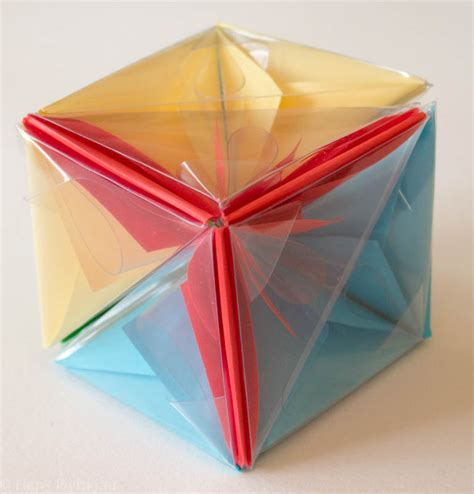 origami puzzles origami a cube puzzle