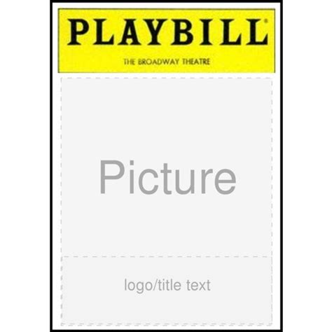 playbill template word playbill template powerpoint blank playbill template