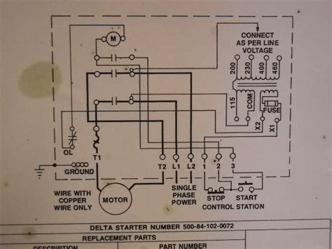 8 best images of magnetic starter wiring diagram single