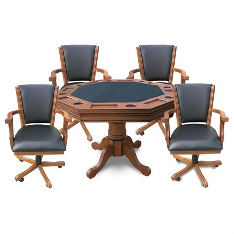 3 in 1 table and chairs kingston oak 3 in 1 table and 4 arm chairs