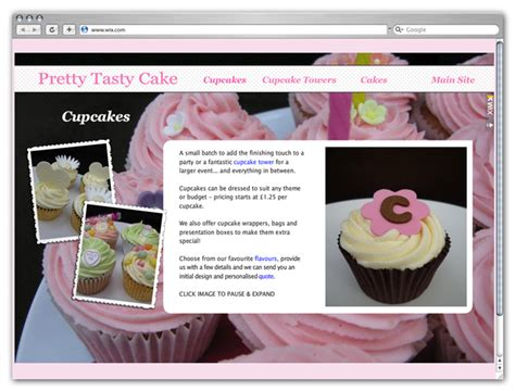 cake websites showcase sweet cupcakes websites created with wix