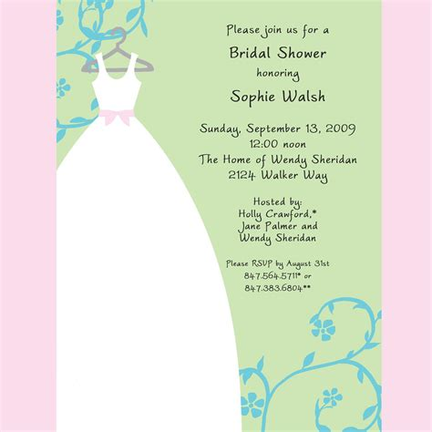bridal shower invitations templates free bridal shower bridal shower invitations sles card