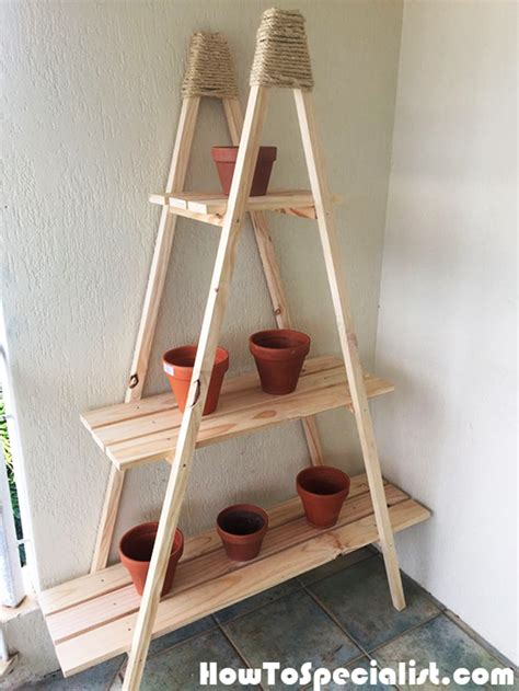 diy ladder plant stand howtospecialist   build