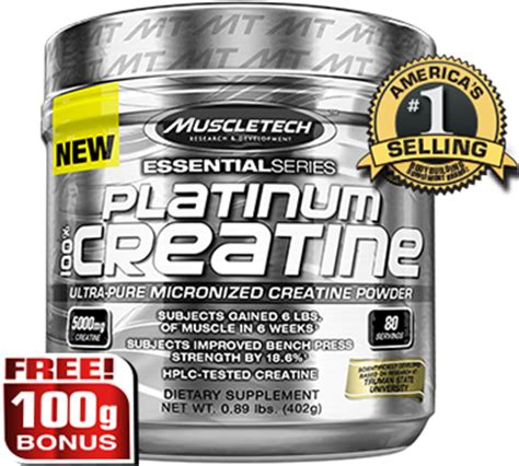 Muscletech Platinum Creatine 400 Gram 1 platinum 100 creatine 400 grams unflavored