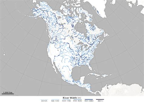 america map in r river width gis data created from 1 756 landsat images