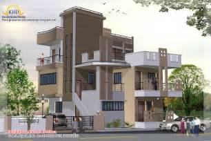 Three Story Building by 3 Story House Plan And Elevation 2670 Sq Ft Kerala