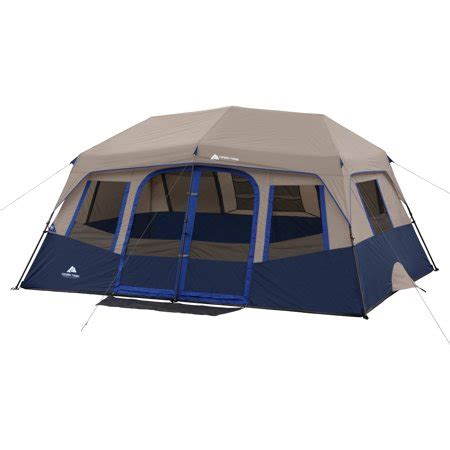 10 room tent ozark trail 10 person 2 room instant cabin tent walmart