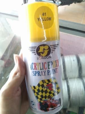 Cat Pelapis Semprot Acrylic Epoxy Spray Paint Rj 300cc jual cat semprot rj 300cc warna 41 yellow kuning