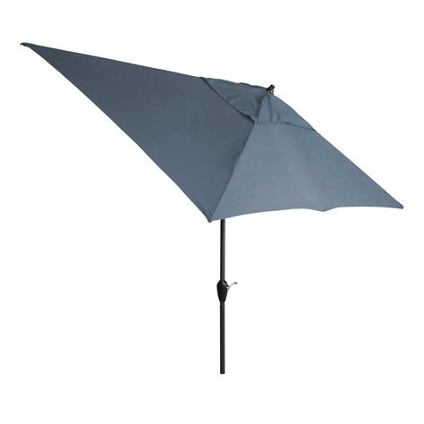 Hton Bay 10 Ft X 6 Ft Aluminum Patio Umbrella In Canvas Patio Umbrella
