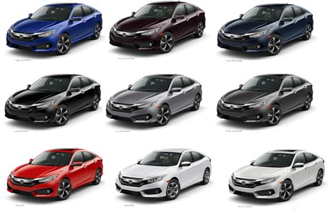 honda colors honda civic colors to fit your style honda of aventura deals