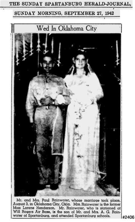 Oklahoma City Marriage Records Rainwater Marriage Records