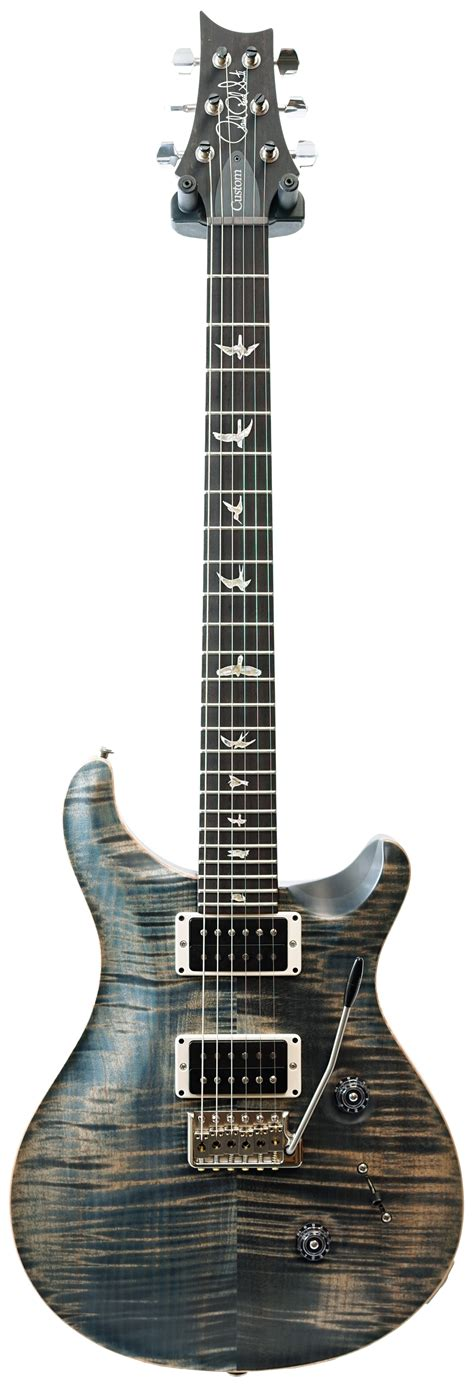 guitar pattern library download prs wood library custom 24 faded whale blue satin honduran