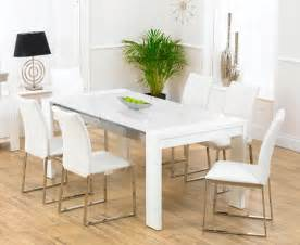 White Dining Table And 6 Chairs Scala White Gloss Dining Table