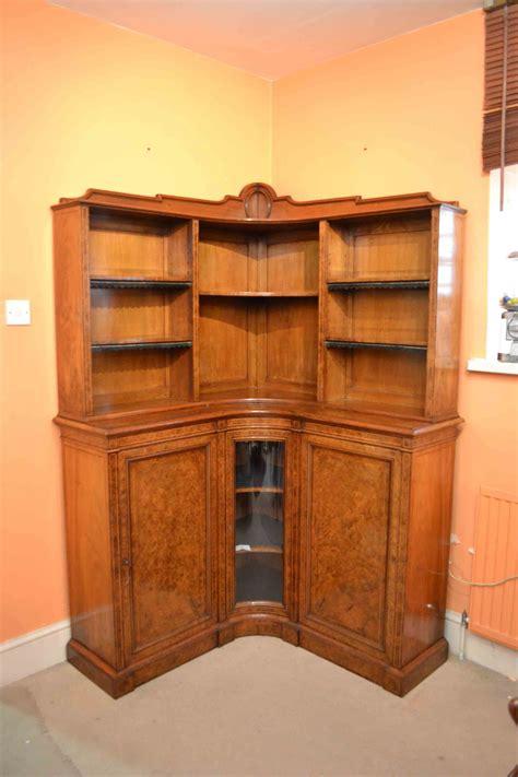 Walnut Corner Bookcase Regent Antiques Bookcases And Display Cabinets Antique Burr Walnut Corner Bookcase