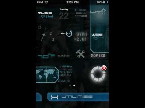 jarvis theme for google chrome iron man jarvis ipod touch theme youtube