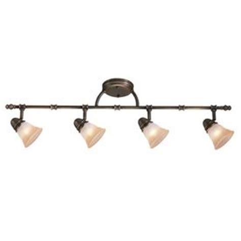 Decorative Track Lighting Fixtures Portfolio Libbe 4 Light Standard Light Bronze Decorative Track Light With Chagne